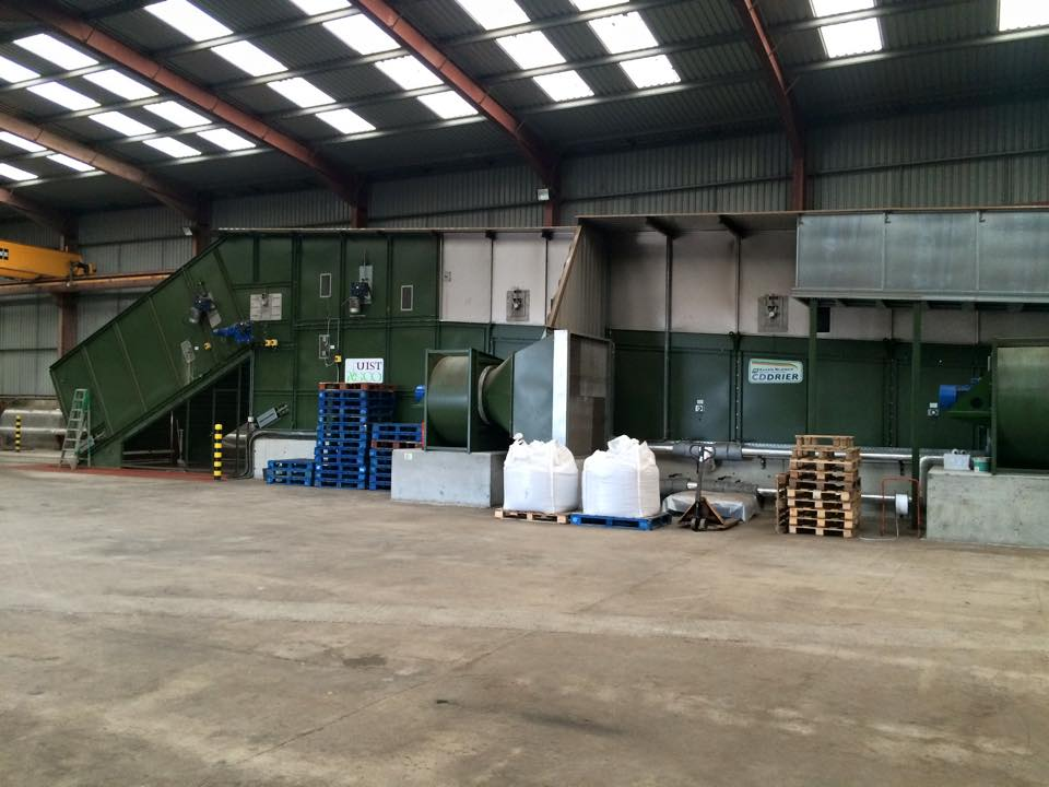 The workshop at North Uist showing the two biomass boilers which we maintain and service.